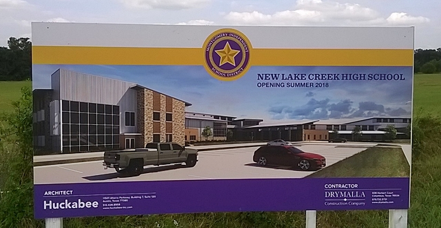 Lake Creek High School Sign