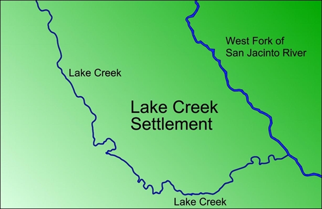 Lake Creek Settlement Map
